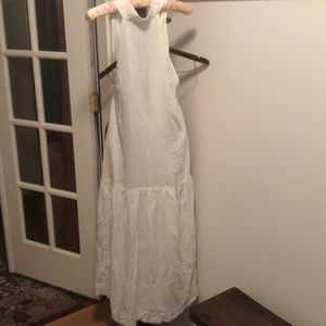 New Free People White summer Halter Midi Dress Sm